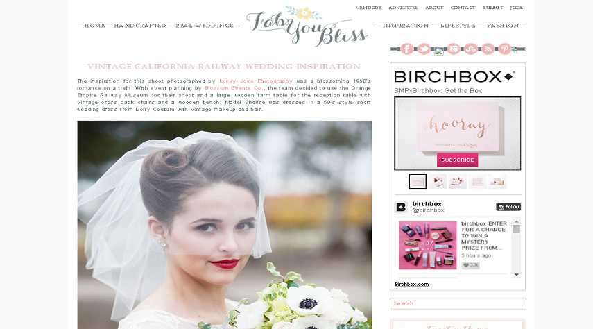 Retro Train Romance featured on Fab You Bliss